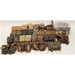 Lot of various military ammo pouches, many  countries; varied conditions from good to  very good.