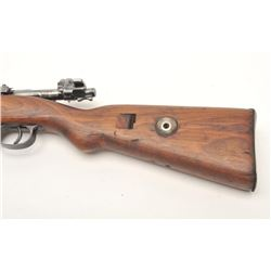 German Mauser Model K98 bolt action rifle, 8  x 57 caliber, serial #6524D.  The rifle is in  good ov