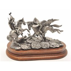 """Pewter sculpture by Donald Polland and issued  by Chilmark Collectors Society entitled  """"When War Ch"""