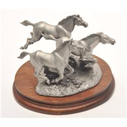 "Pewter sculpture by Brian Rodden and issued  by Chilmark Collectors Society entitled  ""Saving the Co"