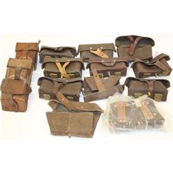 Lot of single ammo pouches; Russian and  Eastern European.    Est.:  $75-$150.