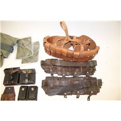 Lot of varied ammo pouches , European,  Chinese, etc.     Est.:  $150-$300.