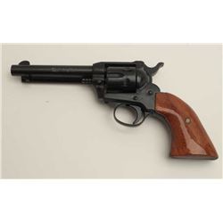 "Rohm Model 66 single action revolver, .22  Magnum caliber, 4.75"" barrel, black finish,  wood grips,"