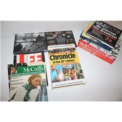 ):  Lot of 11 general American history books  including front pages of the L.A. Times,  Treasures of
