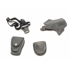 L.A. County Sheriff gear as described: 1. 92F holster 2. 2 double handcuff cases 3. Tactical head li