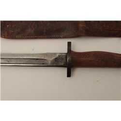 "Fighting knife made from WWII 1917 Enfield  bayonet. Measures 11"" overall with a 5 ¼""  blade. The gr"