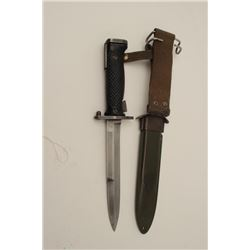 M1 Garand bayonet with scabbard by Imperial.  Blade sharpened. Good overall. Est.: $50-$100