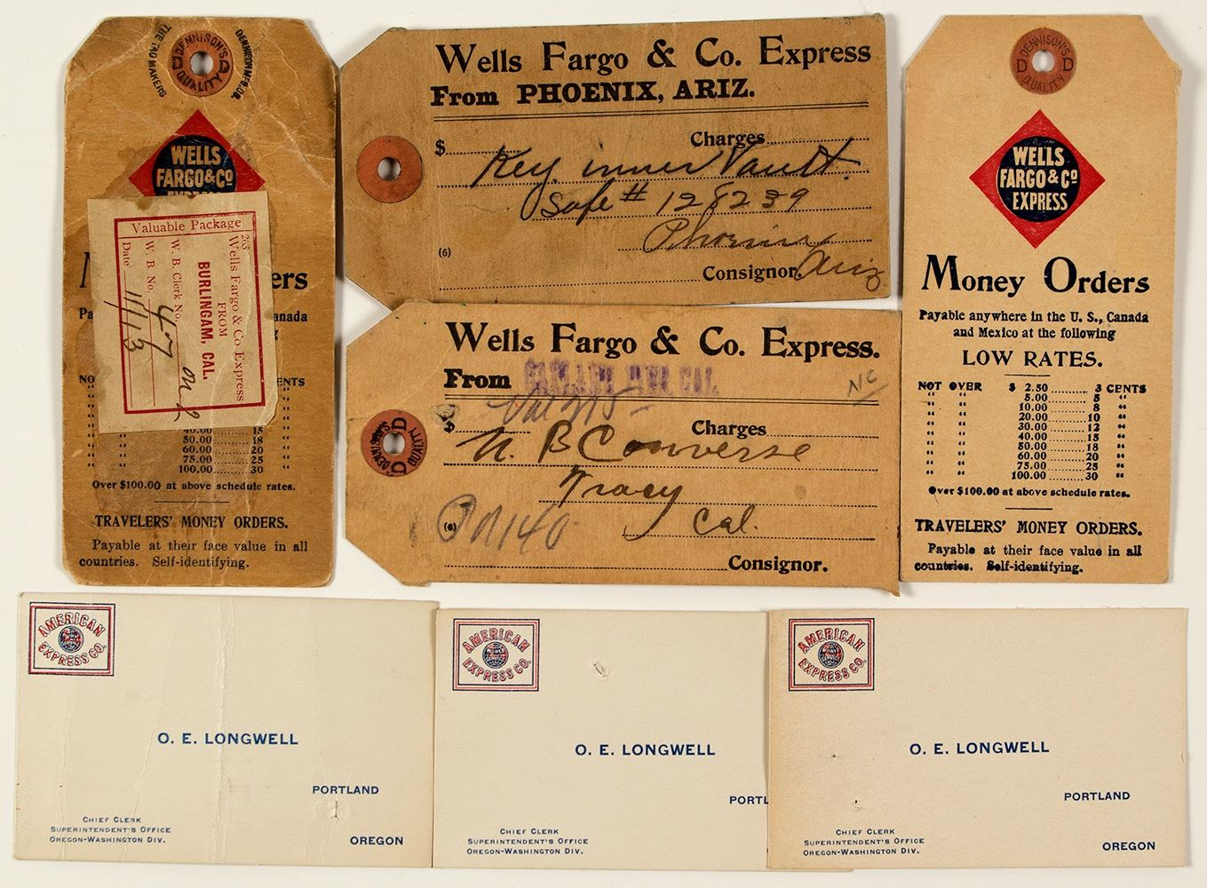 Wells Fargo Baggage Tags And Business Cards
