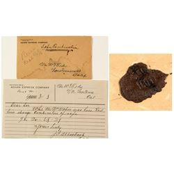 RARE and UNUSUAL Adams Express Official Letter with Safe Combination
