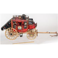 Miniature Wells Fargo Scale Model Stage Coach
