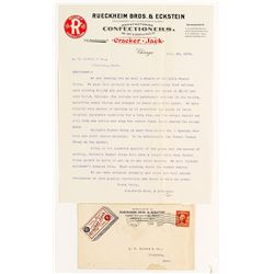 Pictorial Cover--Cracker Jack Box & Letter
