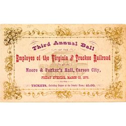 Third Annual V&T railroad Ball