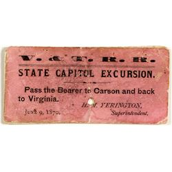 V&T RR State Capitol Excursion Ticket.