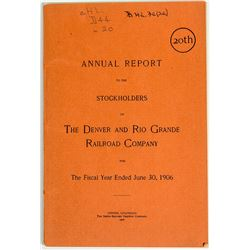 The Denver and Rio Grand Railroad Co Annual Report
