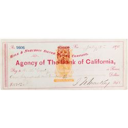 Hale & Norcross, Mackay Signed, Double Revenue Imprinted Check
