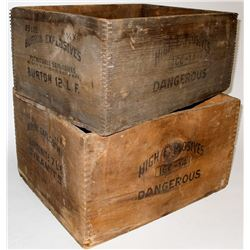 Burton Powder Explosives Boxes