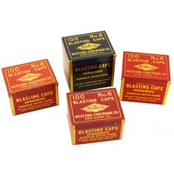 Western Brand Blasting Cap Tin Collection