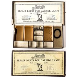 Repair Parts for Justrite Carbide Lamps, No. 2 Outfit
