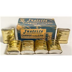 Original Box of Justrite Carbide Pocket Cans