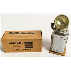 Original Justrite Number 2101 Utility Lantern in Original Box