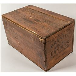 Granite Mining Candles Wood Box