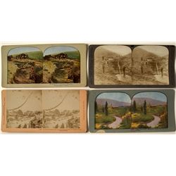 Four Klondike Mining Stereoviews