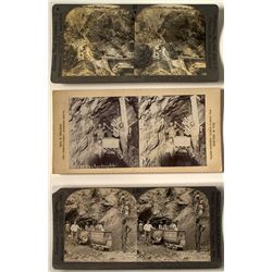 3 South Africa Mining Stereoviews
