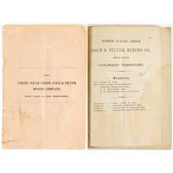 North Clear Creek Gold & Silver Mining Company Prospectus
