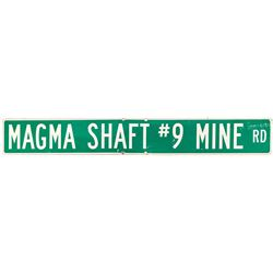 Road Sign for Magma Shaft Number 9, Mine Road