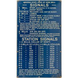 Arizona Mine Bell Signal Sign (Second Edition)
