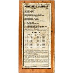 Mining and Scientific Press Mine Bell Signal Sign