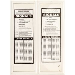 Pair of Colorado Mine Bell Signal Signs