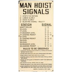 """Man Hoist Signals"" Sign"