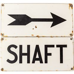 Two Identical Size White Enamel SIgns