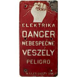 Elektrika DANGER sign