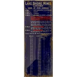 Lakeshore Mines Limited, Mineville Signal Sign