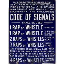 Code of Signals Sign