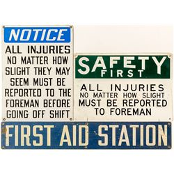 Three Safety Signs