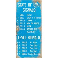 Utah State Mine Bell Signal Sign