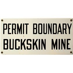 Buckskin Mine Sign