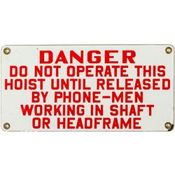 "Red on White ""Danger"" Sign"