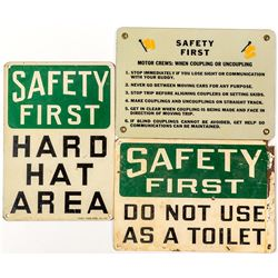 Three Safety First Signs