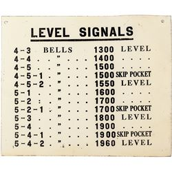 Mine Bell Signal Sign