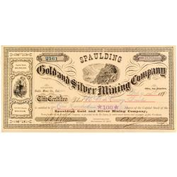 Spaulding Gold & Silver Mining Co. Stock Certificate