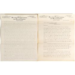 Bullfrog Pioneer Leasing and Milling Co. Letterheads