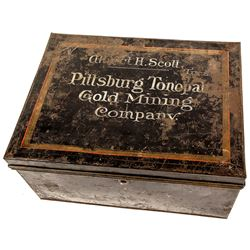 Original Black Strong Box for the Pittsburgh Tonopah Gold Mining Co.