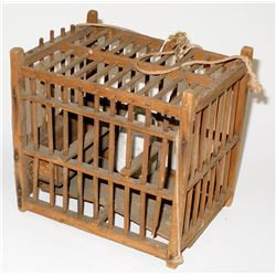 Original Canary Cage to Test Air in a Mine