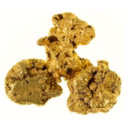 Three Different Shaped Gold Nuggets