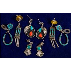 4 Pair Navajo Earrings