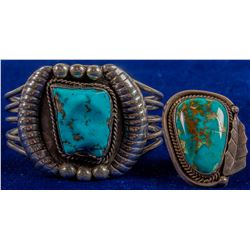 Turquoise & Silver Bracelet and Ring